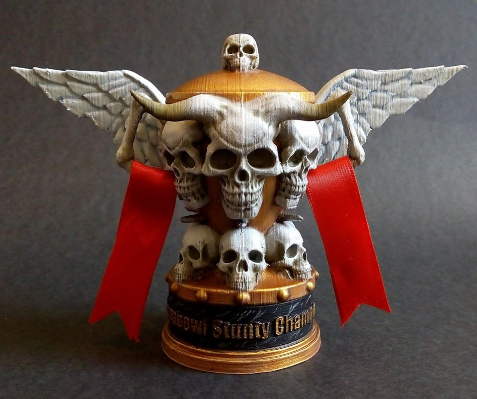 winged skull cup